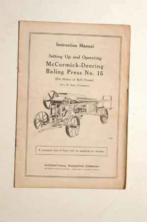McCormick-Deering baling Press No. 15