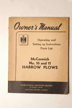 McCormick No. 10 and 11 Harrow Plows
