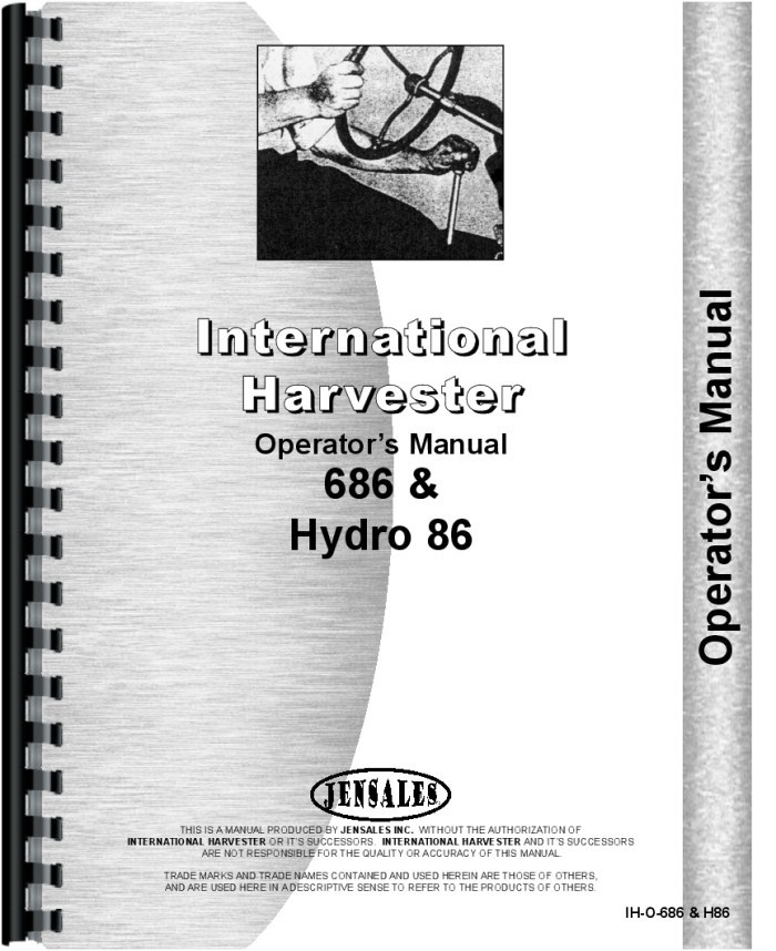 686 and Hydro 86 Tractors Operator's Manual