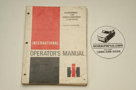 Original operators manual for Mower-Conditioners.