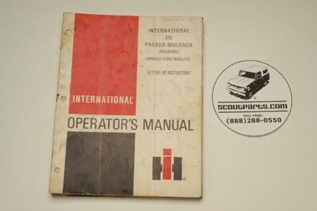 International 315 Packer-Mulcher Operators's Manual