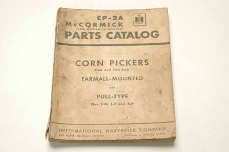 Corn Pickers Parts Catalog CP-2A
