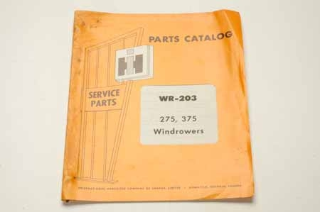 WR-203 Parts Catalog Windrowers