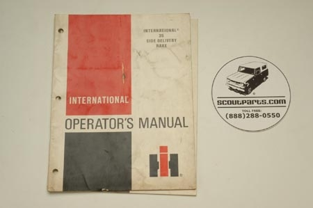 International 35 Side Delivery Rake Operators Manual
