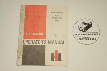 Conser-Till plow  6000 manual