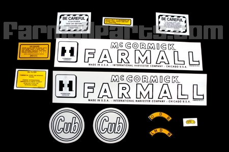 Decal Set Used on Early Cubs, Includes the Circle  Cub