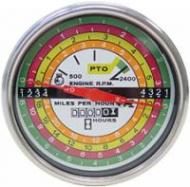 Tachometer Assembly With White Face and Black Lettering. Fits \756, 766 Gas UP TO S/N#10934\, 826, 856, 1256, 1456, 2756, 2856, 21256, 21456.
