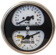 Complete Tachometer Assembly Fits: Hydro Transmission Tractors: 544, 656, 666, 826, 966, 1026, 1066, Hydro 70, Hydro 86, Hydro 100 GAS or DIESEL. REPLACES: 398957r1, 402033r1, 65324c1.
