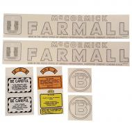 B Cultivision International Harvester Complete Decal Kit Fits Models: B
