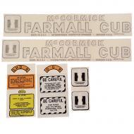 Farmall Cub Complete Decal Kit Fits Models: CUB; CUB 154; CUB 154 LO BOY; CUB 184; CUB 184 LO BOY; CUB 185; CUB 185 LO BOY; CUB LO BOY