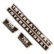 706 International Harvester Hood Decal Kit Fits Models: 706