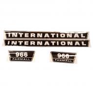 966 International Harvester Hood Decal Kit Fits Models: 966