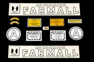 Decal Sets for Farmall/McCormick/IH A, 12 pieces Early model tractor decal sets are replacement items and not manufacturer\'s original equipment. Color and piece count may vary by manufacturer and may not be a perfect duplication of original decal.  Approximately 12 pieces