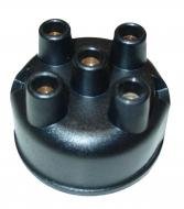 Distributor cap for Farmall tractors with a 4 cylinder engine. Fits Farmall Cub, Cub Lo-Boy 154, 184, 185, A, B, C, H, M, SUPER A, SUPER C, SUPER H, SUPER M, I, O, T, W-4, 6, 9, SERIES GAS, AND DIESEL, 100, 130, 140, 200, 230, 240, 300, 330, 340, 350, 400, 404, 424, 444, 450, 504, 600, AND 650 with an International distributor.