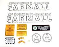 MYLAR DECAL SET --- SPECIAL ORDER ONLY. ALLOW ONE ADDITIONAL WEEK FOR DELIVERY CAUTION: INSPECT ALL DECAL PIECES BEFORE APPLYING TO TRACTOR. NO REFUNDS ON MYLAR DECALS IF APPLIED TO SURFACE AND / OR IF DAMAGED. NO REFUNDS ON VINYL CUT DECALS. STORE IN A COOL, DRY PLACE. D --- International Applications: MCCORMICK-DEERING (1939-1944) A