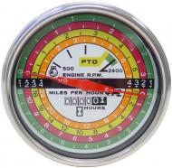 WHITE FACE TACHOMETER --- WHITE BACKGROUND WITH BLACK LETTERING --- International Applications: 756, 766 GAS (UP TO SN 10934), 826, 856, 1256, 1456, 2756, 2856, 21256, 21456 --- Replacement Part #: 388589R91, 398095R91, & #66748C1