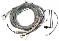 WIRING HARNESS --- CLOTH COVERED LIKE ORIGINAL INCLUDES WIRING INSTRUCTIONS & LIGHT WIRES --- USA MADE --- International Applications: M W/ REGULATOR ON STEERING POST (UNDER FUEL TANK) (SN FBK 229911 & UP), EARLY SUPER M (SN F501 - F28174 AND SN L500001 - L504801 GAS) WITH BATTERY BOX UNDER FUEL TANK
