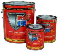 <P><B>POR-15<SUP>�</SUP></B> is a high-tech, high performance rust-preventive coating designed for application directly on rusted or seasoned metal surfaces. It dries to an incredible rock-hard, non-porous finish that won\'t chip, crack, or peel, and it prevents rust from recurring by protecting metal from further exposure to moisture.</P><P>Use it to coat rusty frames, floor pans, farm equipment, marine equipment, or even a heavily corroded battery tray. </P><P><B>POR-15<SUP>�</SUP></B> is sensitive to UV light (sun) and must be topcoated for prolonged exposure to sunlight. <BR>Topcoating is not required for areas not exposed to sunlight.</P><P><FONT face=Arial size=6>SIZE : FOUR OZ</FONT></P>