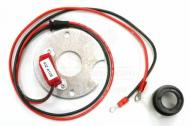 Pertronix Ignitor kit for Autolite 6 cylinder; increase fuel economy, horsepower, and plug life. Easy to install kit has no moving parts to wear out, and replaces pitted and corroded point sets. Kit does not include distributor. This items works for all years of the 6Cyl. 80 Wisconsin VH4 engine and uses the Autolite distributor.