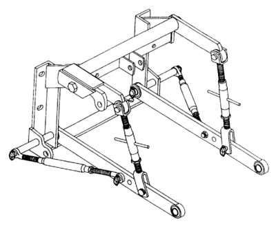 3 Point Hitch Adapter -  Supers (M, MTA)  M.D., 400, 450, 460, 504, 560,