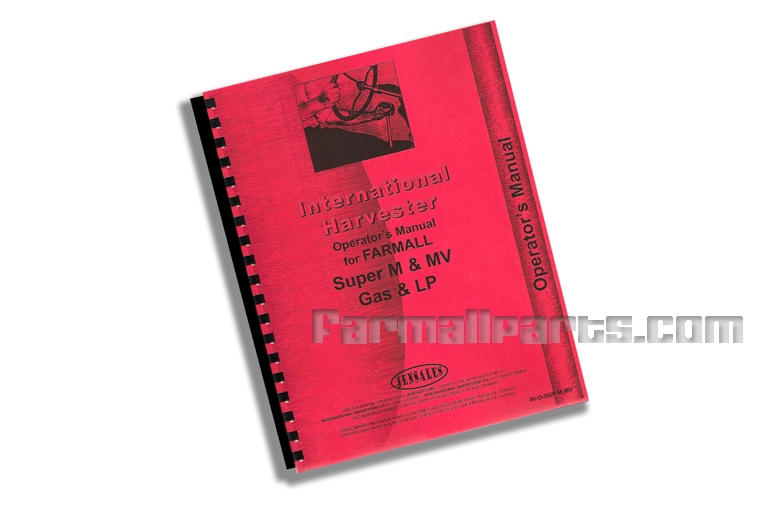 Operators Manual IH Super M, Super MV