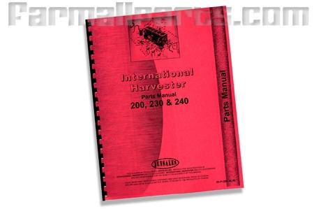 Farmall 200, 230, 240, parts manual