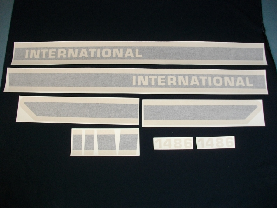 International Harvester Decal Set 1486 International Harvester Black Hood Decal Kit(VINYL)