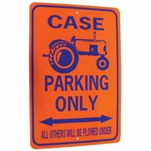 Case Tractor Parking Only Sign Blue/Orange