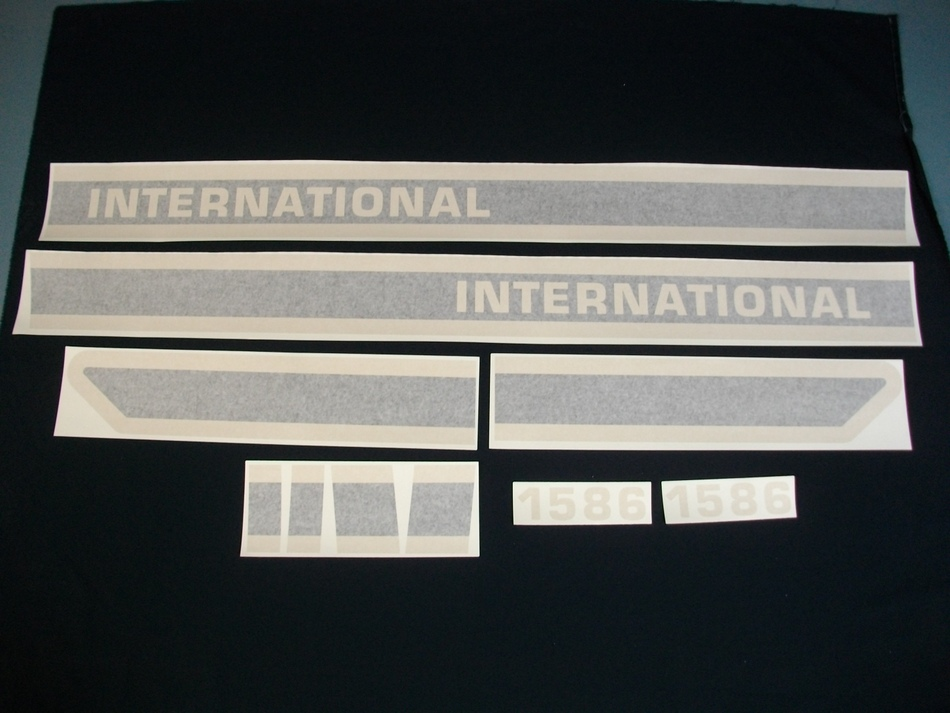 International Harvester Decal Set 1586BC International Harvester Hood Decal Kit (W/CAB)(VINYL)
