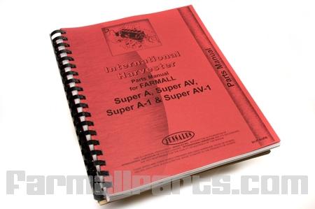 Parts Manual - IH Super A, Super AV