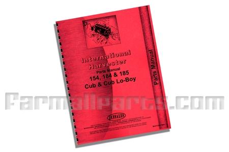 Parts Manual IH 154 Lo-Boy,Cub 184,Cub185