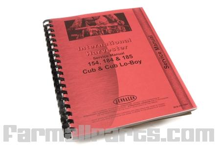 Service Manual IH 154 Lo-Boy, Cub184, Cub185