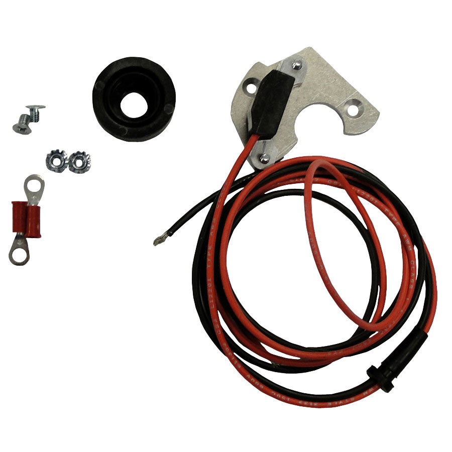 International Harvester Electronic Ignition Converts mechanical ignition to electronic type. 12v (-) ground for 6 cyl. C-291 motor. Distributor reference numbers 399597R91 and 368051R11.