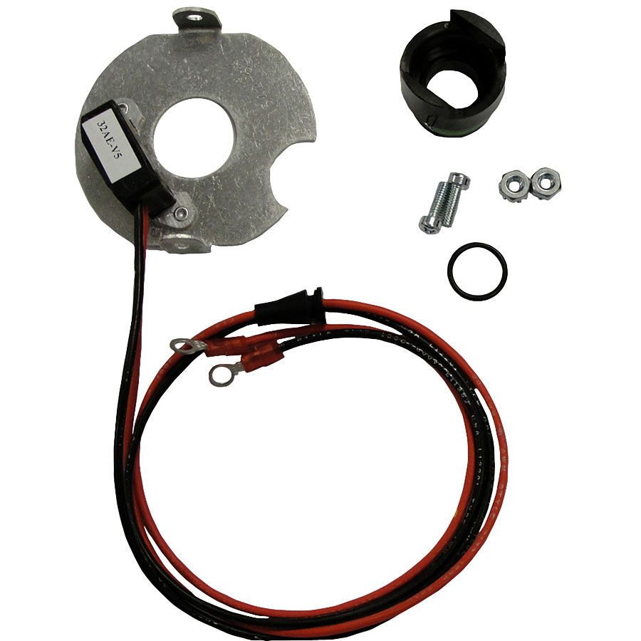 International Harvester Electronic Ignition Converts mechanical ignition to electronic type. 12v (-) ground for Prestolite distributor.