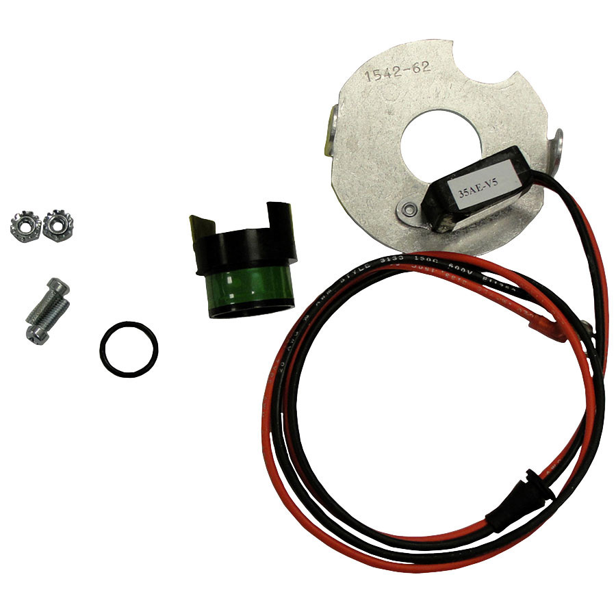 International Harvester Electronic Ignition Converts mechanical ignition to electronic type. 12v (-) ground f930-970 Tractors.