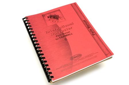 Parts Manual, IH Farmall C