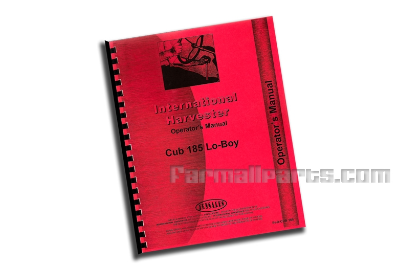 Operators Manual IH Cub 185 Lo-Boy