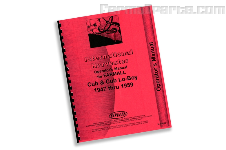 Operator's Preventative Maintenance Manual for IH Farmall Cub, Cub Lo-Boy