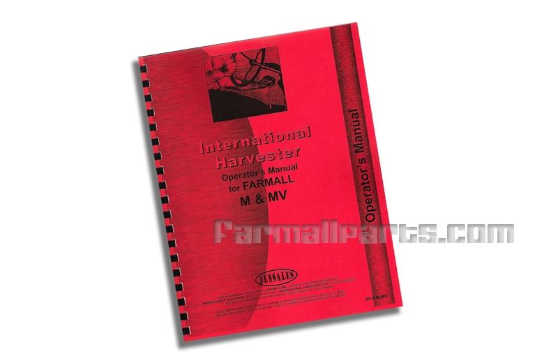 Operators Manual - IH Farmall M, MD, MDV, MV