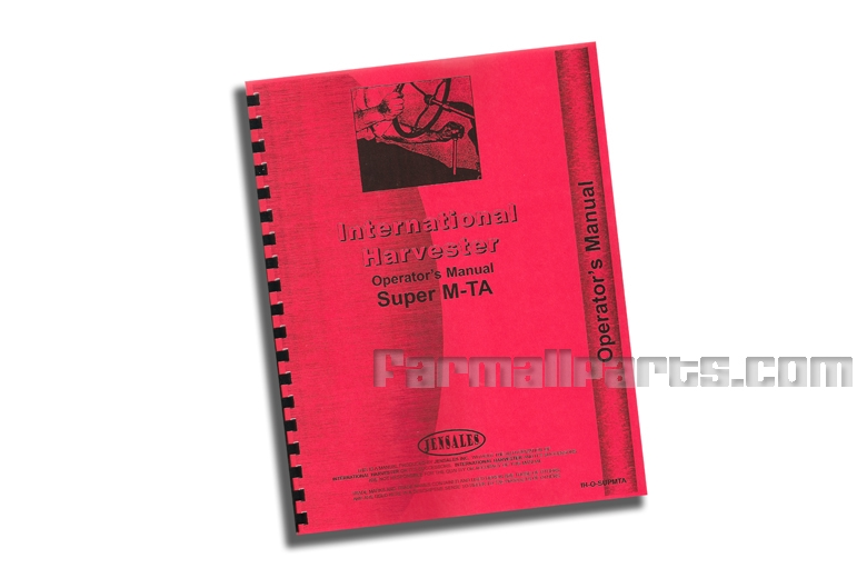 Operators Manual IH Super MTA, Super MVTA