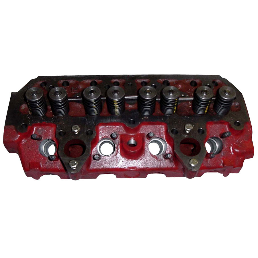 International Harvester Cylinder Head with Valves Cylinder head complete w/valve assemblies. Dual valve spring type. Does not contain injector pre chamber cups