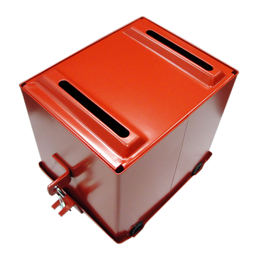 International Harvester Battery Box Restoration quality with red powder coat finish. Mounts under the gas tank.