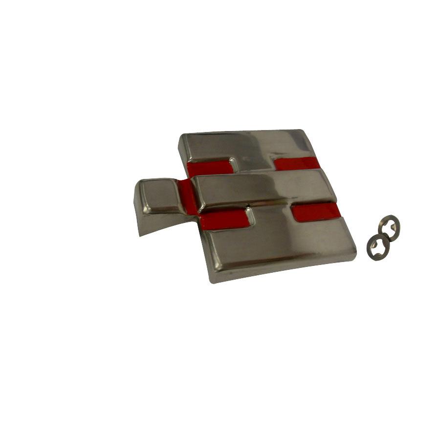 International Harvester Emblem Front IHC block emblem. Stainless steel