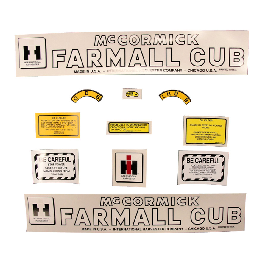 International Harvester Decal Set