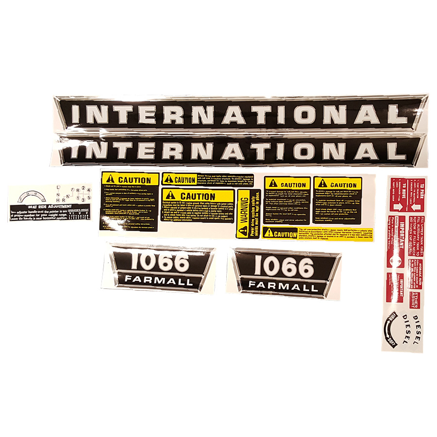International Harvester Decal Set 1066 International Harvester Complete Decal Kit