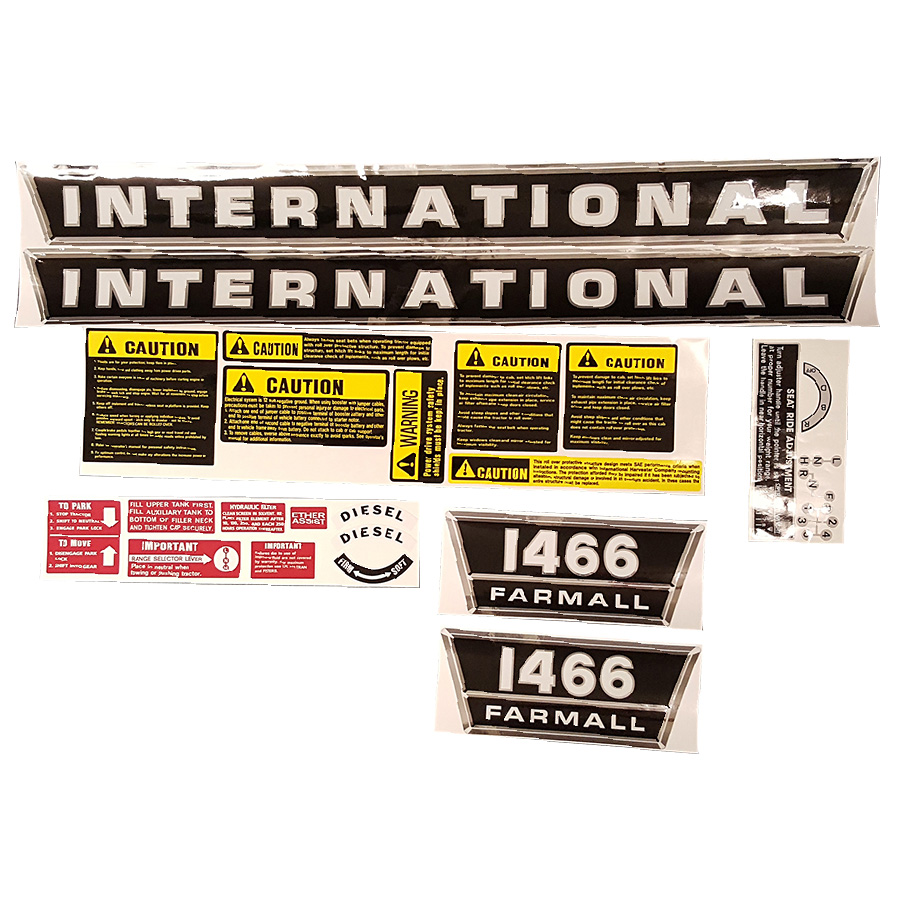 International Harvester Decal Set 1466 International Harvester Complete Decal Kit