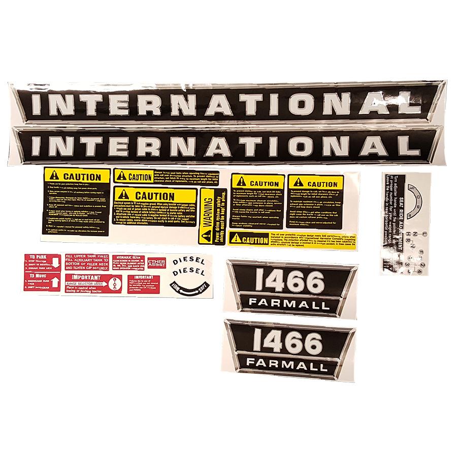 International Harvester Decal Set 1466 International Harvester Complete Decal Kit