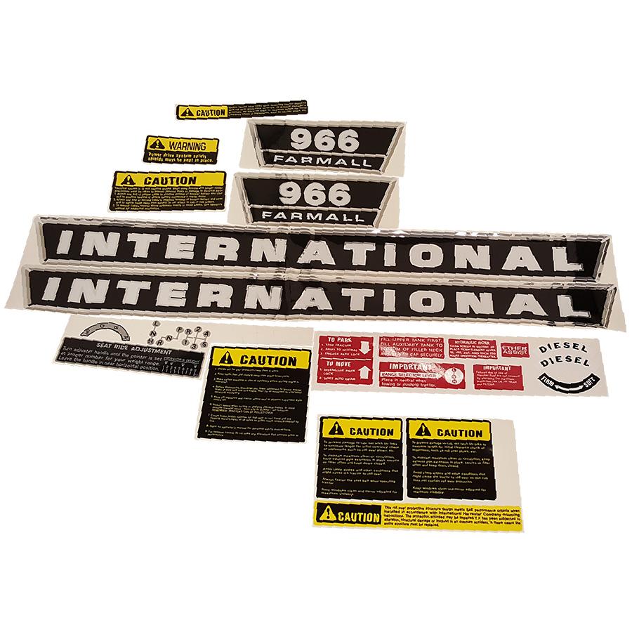International Harvester Decal Set 966 International Harvester Complete Decal Kit