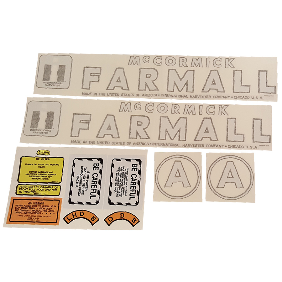 International Harvester Decal Set A International Harvester Decal Kit