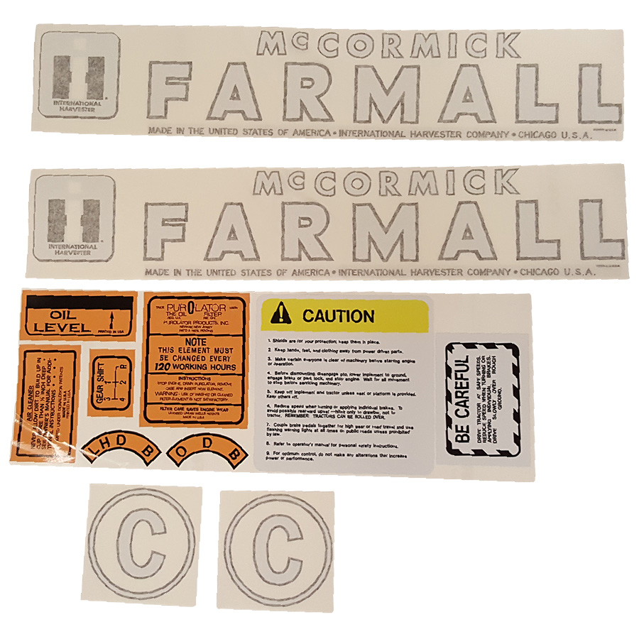International Harvester Decal Set C International Harvester Decal Kit